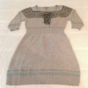 AMERICAN RAG Womens Tribal Tahoe Sweater Dress| Lg